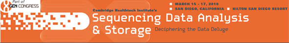 Sequencing Data Analysis and Storage 2010 Banner