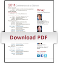 2011 Conference at a Glance Cover
